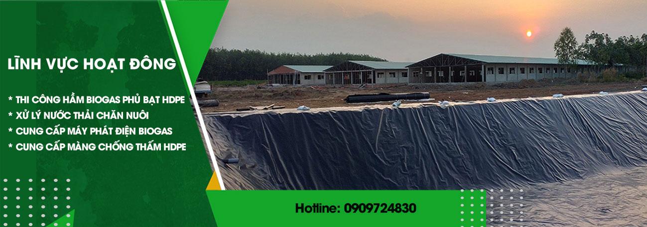 Thuận Phong - Màng chống thấm HDPE và thi công hầm biogas